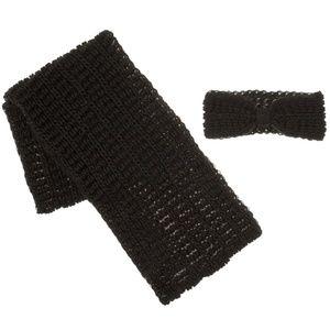 Tahari Open Knit Infinity Scarf & Headwrap Set
